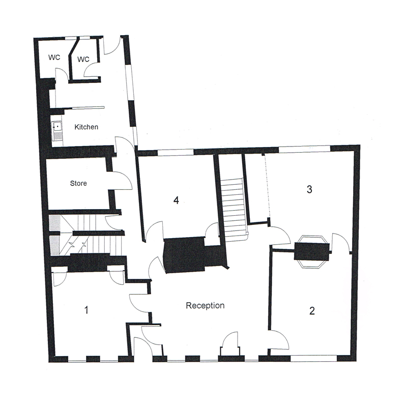 Main Building Floor Plan - Ground Floor - Old Chambers Services Offices