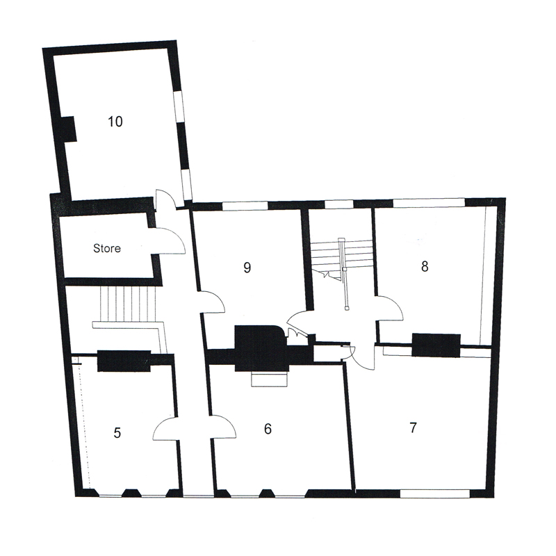 Main Building Floor Plan - First Floor - Old Chambers Services Offices